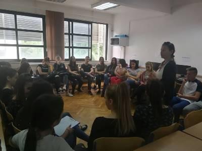 COR održao edukaciju o volonterstvu u Ekonomskoj školi Imotski
