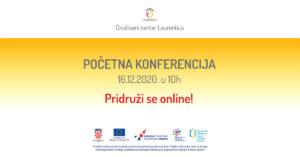 """Poziv na početnu konferenciju projekta  """"Društveni centar Laurentius"""""""